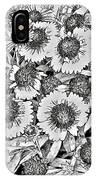 Daisies In Relief IPhone Case