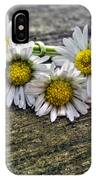 Daisies In Wreath IPhone Case
