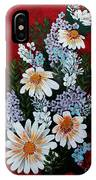 Daisies Lilacs And Forget Me Nots IPhone Case