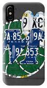 Dallas Mavericks Basketball Team Retro Logo Vintage Recycled Texas License Plate Art IPhone Case