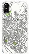 Dallas Texas Hand Drawn Map  1893 IPhone Case