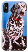 Dalmatian On Spotty Cushion IPhone Case
