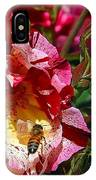 Dancing Bees And Wild Roses IPhone Case