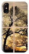 Dancing Forest Trees Picture Window Frame Photo Art View IPhone Case