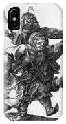 Dancing Peasants 1514 - Albrecht Durer IPhone Case