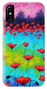 Dancing Poppies IPhone Case