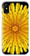 Dandelion V Flower Mandala White IPhone Case