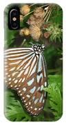 Dark Blue Tiger Butterfly IPhone Case