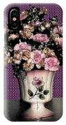 Dark Ink Vase And Flowers IPhone X Case