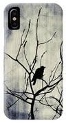 Crow In Dark Lights IPhone Case