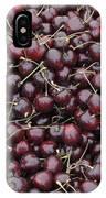 Dark Red Cherries For Sale IPhone Case