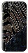 Dark Zebra IPhone Case
