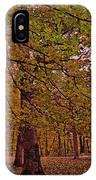 Darker Textured Autumn Trees IPhone Case