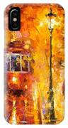 Date By The Trolley - Palette Knife Oil Painting On Canvas By Leonid Afremov IPhone Case