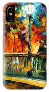 Date On The Bridge - Palette Knife Oil Painting On Canvas By Leonid Afremov IPhone Case