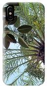 Date Palm And Rubber Tree Branch IPhone Case