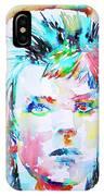 David Bowie - Watercolor Portrait.6 IPhone Case