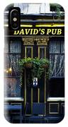 David's Pub IPhone Case