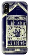 Davy Crocketts Tennessee Whiskey IPhone Case