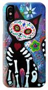 Day Of The Dead Cat IPhone Case