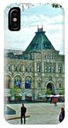 Daytime View Of Gum-former State Department Store-in Red Square In Moscow-russia IPhone Case