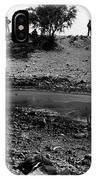 Dead Cattle Contaminated Water Hole Once In 100 Year's Drought Near Sells Arizona Tohono O'odham  IPhone Case