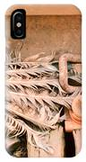 Dead Dove Decomposing In Railway Track IPhone Case