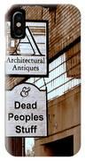 Dead Peoples Stuff IPhone Case