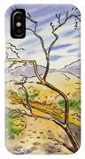 Death Valley- California Sketchbook Project IPhone Case