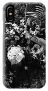 Debbie C's Grave American Flag Evergreen Cemetery Tucson Arizona 1991 IPhone Case