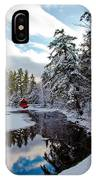 December Afternoon At The Red Boathouse IPhone Case