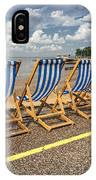 Deckchairs At Southend IPhone Case