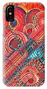 Deco Flower Swirls IPhone Case