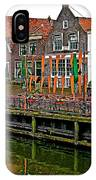 Decorations For Orange Day To Celebrate The Queen's Birthday In Enkhuizen-netherlands IPhone Case