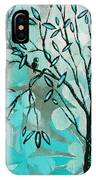 Decorative Abstract Floral Birds Landscape Painting Bird Haven I By Megan Duncanson IPhone Case