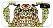 Decorative Illustration With An Owl IPhone X Case