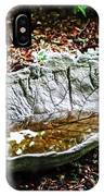 Decorative Leaf Birdbath IPhone Case