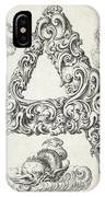 Decorative Letter Type A 1650 IPhone Case