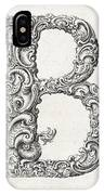 Decorative Letter Type B 1650 IPhone Case