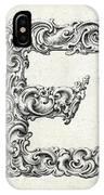 Decorative Letter Type E 1650 IPhone Case