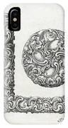 Decorative Letter Type L 1650 IPhone Case