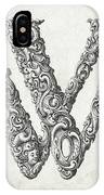 Decorative Letter Type W 1650 IPhone Case