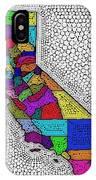 Decorative Map Of California IPhone Case