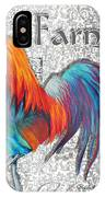 Decorative Rooster Chicken Decorative Art Original Painting King Of The Roost By Megan Duncanson IPhone Case