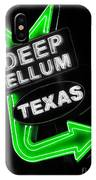Deep Ellum In Green IPhone Case