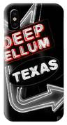 Deep Ellum In Red IPhone Case