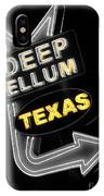 Deep Ellum In Yellow IPhone Case