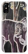 Deep Purple Elephant Painting In The Forest. IPhone Case