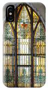 Defiant Stain Glass Church Window #1 IPhone Case