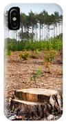 Woods Logging One Stump After Deforestation  IPhone Case